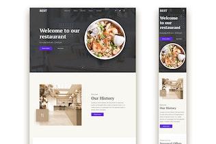 Thumbnail for Restaurant Responsive Landing Page