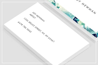 Thumbnail for Banana Leaf Crush Business Card Template