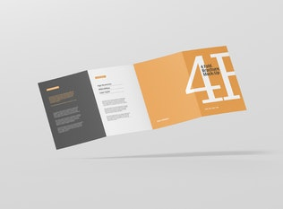 Thumbnail for 4-Fold Brochure Mockup - Din A4 A5 A6