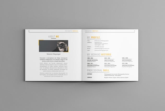 Photography Portofolio Templates - product preview 4