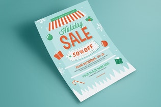 Thumbnail for Holiday Christmas Sale Flyer