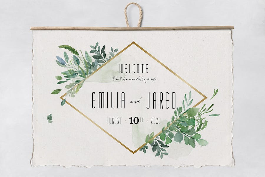Gold & Greenery Wedding Suite - product preview 6