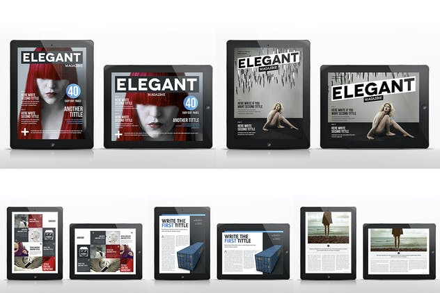 Design Magazine 3 for Tablet Indesign Template