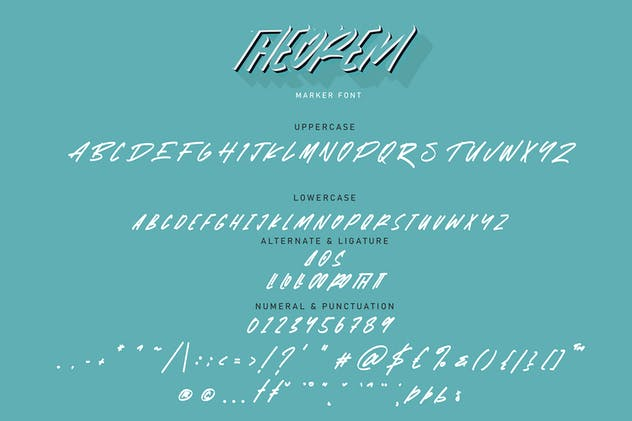 Theorem | Marker Font - product preview 5