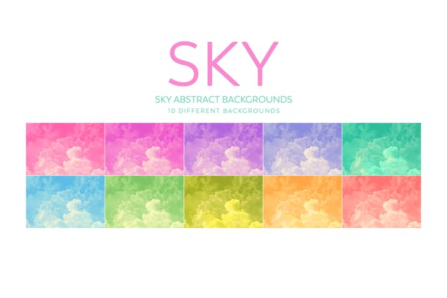 SKY Abstract Backgrounds - product preview 5