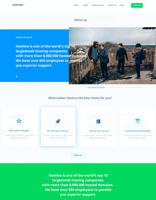 Thumbnail for Hostino WHMCS Web Hosting Template