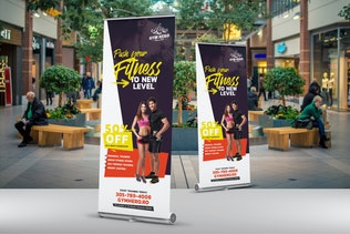 Thumbnail for Gym Roll-Up Banner
