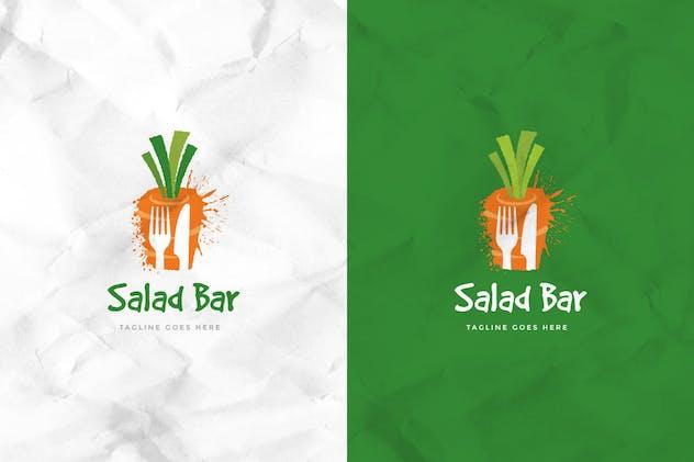 Salad Bar Logo Template