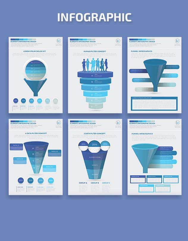 Blue Filter Funnel Infographics - product preview 4