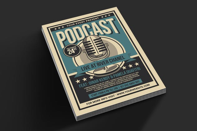 Podcast Live Flyer - product preview 3