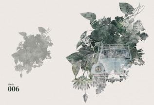 Thumbnail for 5 Artistic Watercolor Masks Vol 02
