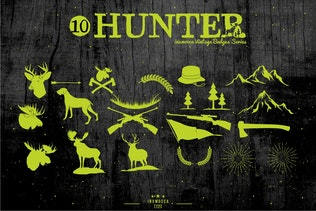 Thumbnail for Hunter Vintage Badges