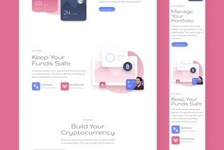 Thumbnail for Crypto Responsive Landing Page
