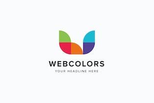 Thumbnail for Webcolors W Letter Logo Template