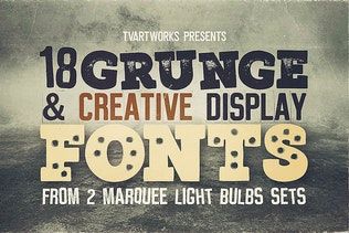 Thumbnail for Marquee - 18 Grunge Fonts