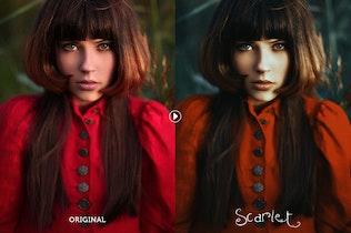 Thumbnail for Scarlet Fantasy Photoshop Action