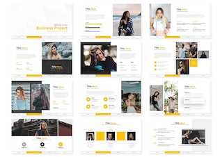 Thumbnail for Business Project - Google Slides Template