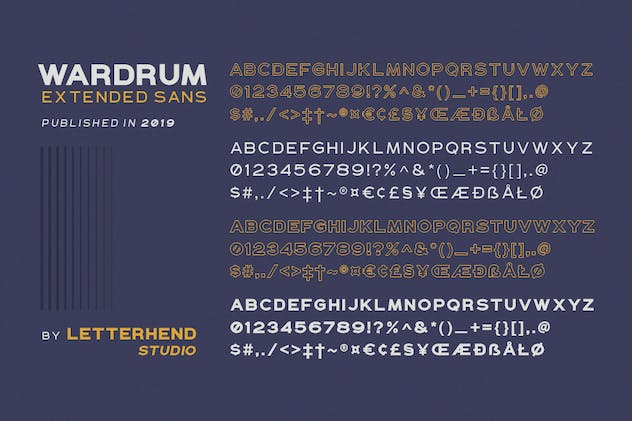 WARDRUM - Expanded Sans - product preview 8