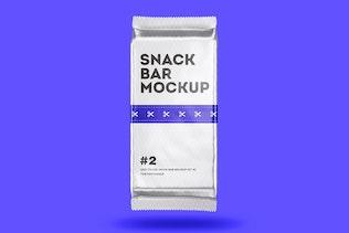 Thumbnail for Snack Bar Package Mockup Set 2