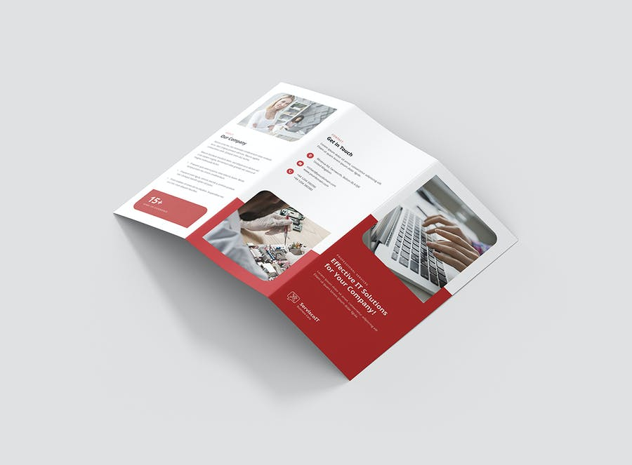 Brochure – IT Services Tri-Fold - product preview 5