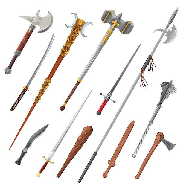 Set of Different Weapons - product preview 0