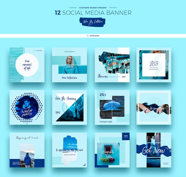 Blue Sky Social Media Designs - product preview 4