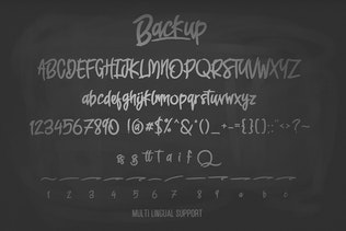Thumbnail for Backup Typeface