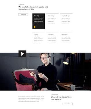 Lpardo — Creative agency Adobe XD Template