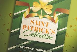 dépliant de la célébration de la Saint-Patrick