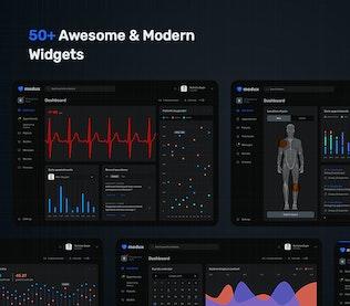 Thumbnail for Dark Medical Dashboard – UI KIT
