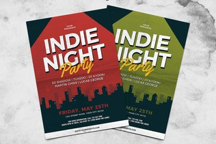 Thumbnail for Indie Night Party Flyer