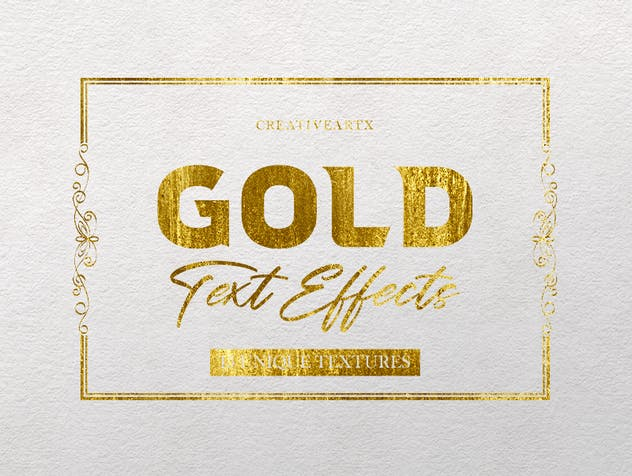 Gold Text Effects 2 - product preview 1