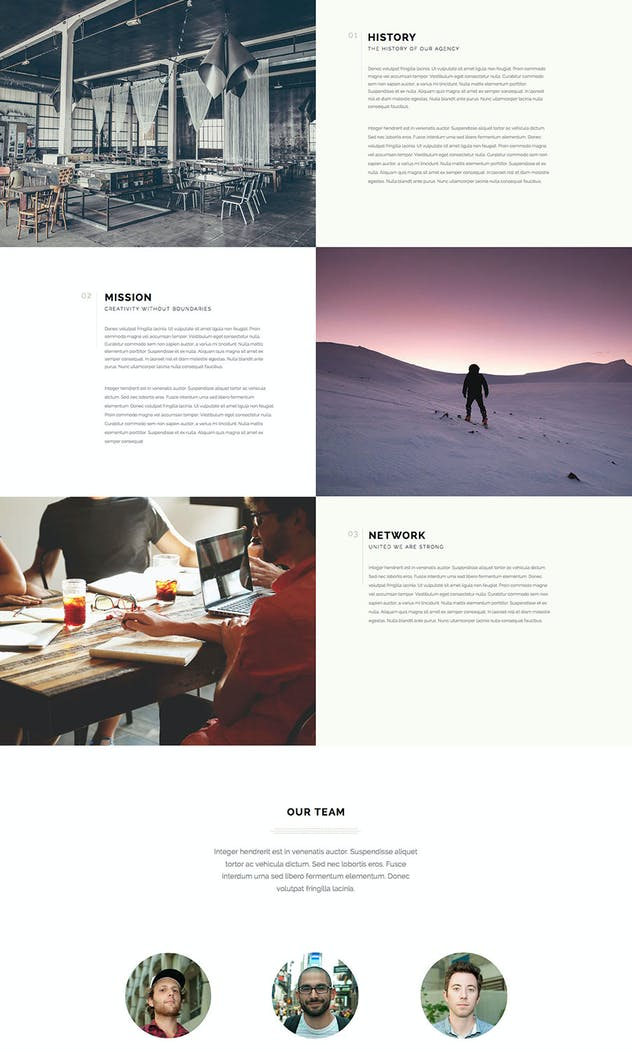 Lumina - Responsive Muse Template for Creatives