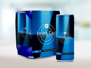 Thumbnail for Drink Can & 6 Pack Mock up