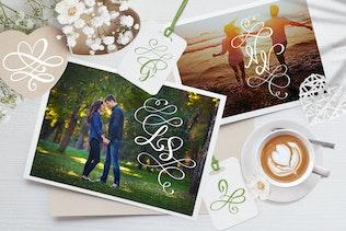 Thumbnail for Love Story Monogram Font