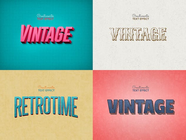 Vintage Retro Text Effects Col 8 - product preview 2