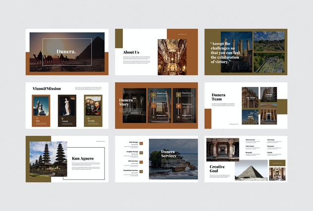 Dunera - Museum Google Slides Template - product preview 3