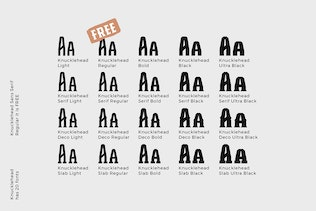 Thumbnail for Knucklehead Font Family