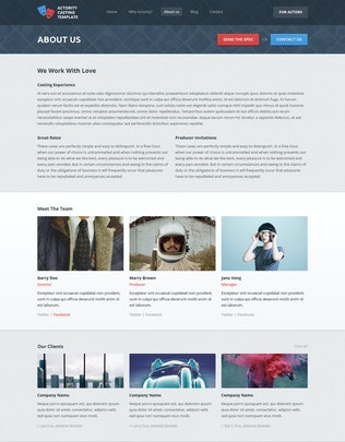 Thumbnail for Actority - PSD Template for Casting Agencies