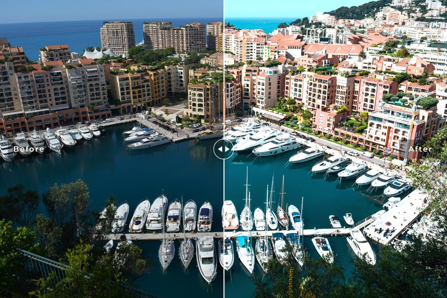 Preview image 4 for Monaco Mobile & Desktop Lightroom Presets
