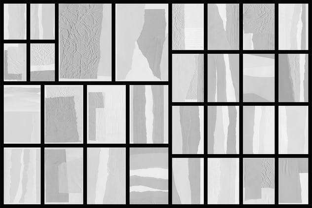 Collage White Paper Textures - product preview 1