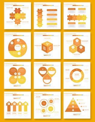 Миниатюра для 50 Желтый дизайн Инфографика