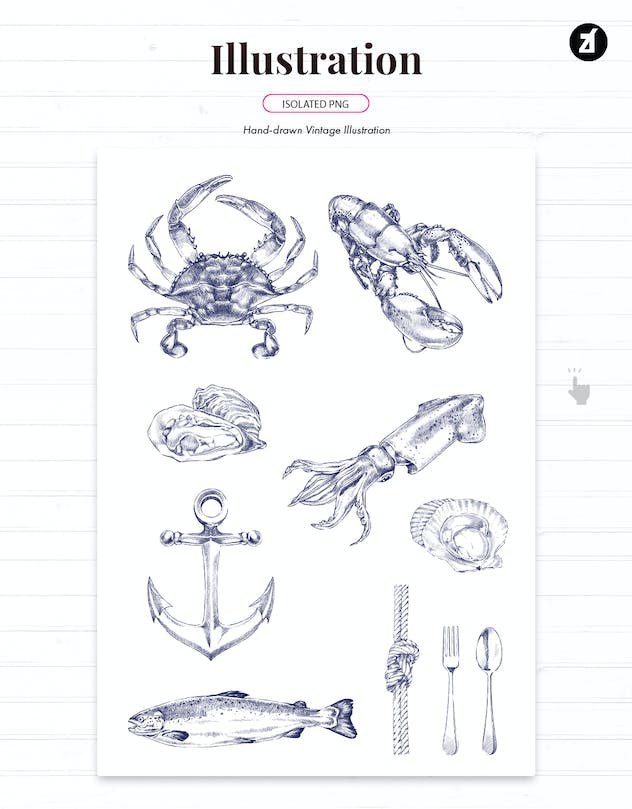 Seafood style menu template - product preview 3