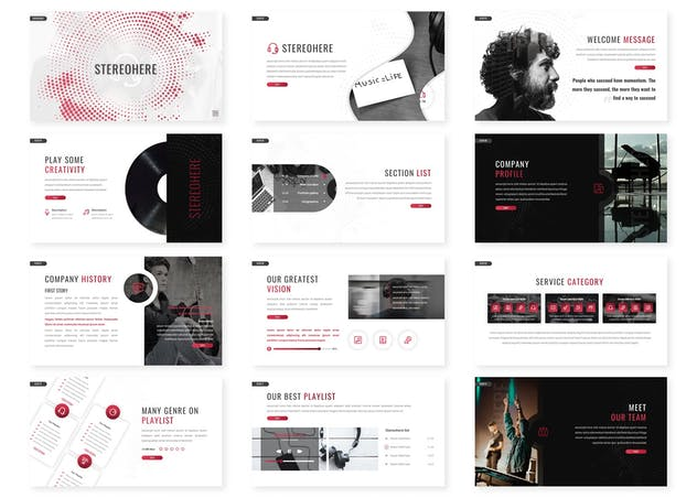 Stereohere - Music Keynote Template - product preview 2