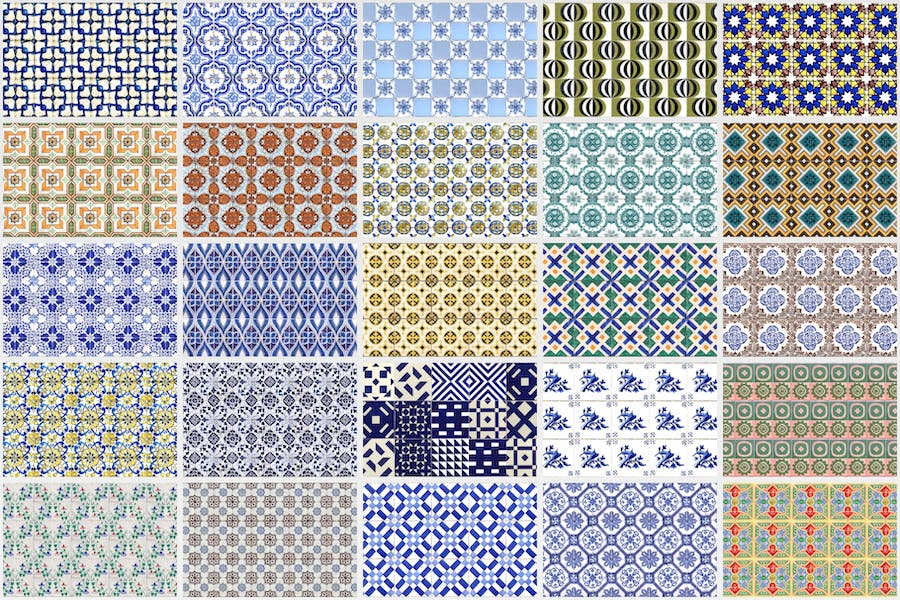 200 Seamless Portugal Azulejo Tile Backgrounds - product preview 2
