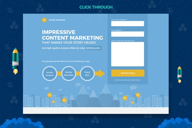Content Marketing Unbounce Landing Page - product preview 3