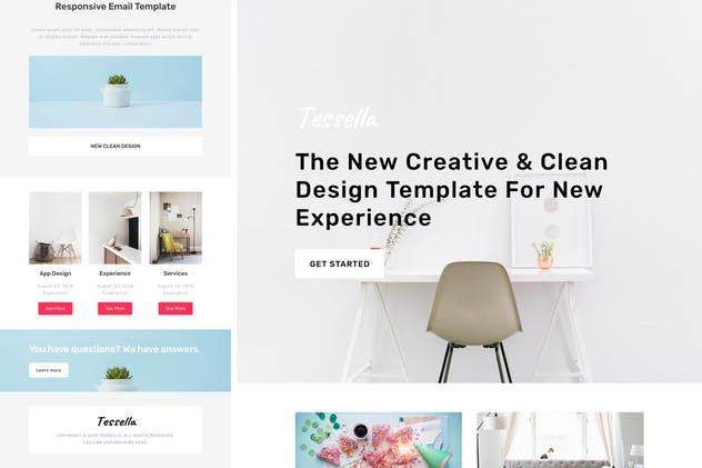 Tessella - Responsive Email + StampReady Builder - product preview 1