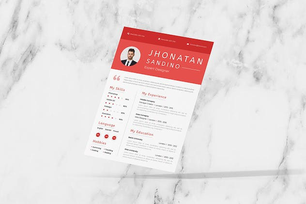 Rot Two CV Resume - product preview 2