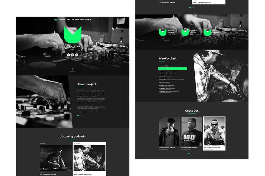 Ultra Vibes - DJ / Producer Podcast Site Template - product preview 1